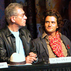 Press conference at Te Papa museum, Wellington NZ: Ian McKellen and Orlando Bloom