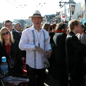 Red Carpet, Wellington Premiere, 1 December 2003 (Ian McKellen, Peter Jackson, Billy Boyd)