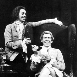 Mozart (Tim Curry) and Salieri (Ian McKellen)