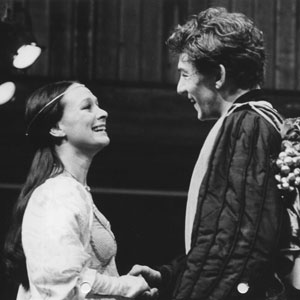 1976, ROMEO AND JULIET (1976): Juliet (Francesca Annis) and Romeo (Ian McKellen)