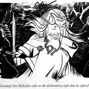 2003, THE LORD OF THE RINGS: RETURN OF THE KING: From The New Yorker  - Sketch by Tom Bachtell