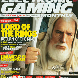 Cover of :Electronic Gaming magzine, Dec. 2003