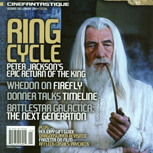 Cover of Cinefantastique magazine, December 2003