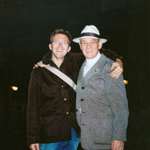 2003, EMILE: Director Carl Bessai and Ian McKellen in London, October 2003