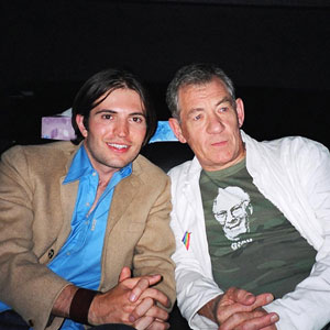 2003, EMILE: Tygh Runyan and Ian McKellen, Toronto Film Festival, September 2003