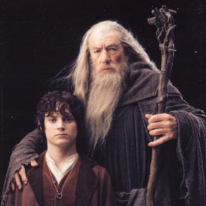 Frodo (Elijah Wood) and Gandalf (Ian McKellen)