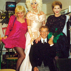 Backstage at Equality Show: Gayle Tuesday, Lily Savage, Ian McKellen and Sian Phillips