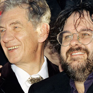 2003, THE LORD OF THE RINGS: RETURN OF THE KING: With Peter Jackson at the Los Angeles Premiere