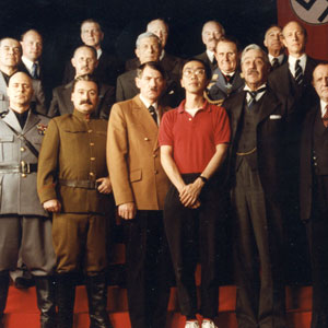 Director Patrick Lau and his cast, including Ian McKellen as Hitler