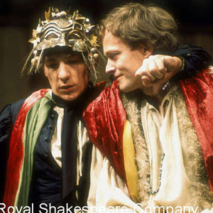 Romeo (Ian McKellen) and Mercutio (Michael Pennington) on their way to the Capulet feast. Act 1  Scene 4