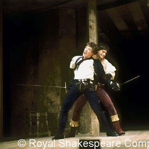 1976, ROMEO AND JULIET (1976): Romeo (Ian McKellen) fights Tybalt (Paul Shelley). Act 3  Scene 1  - Photo by Reg Wilson