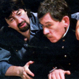 Director Trevor Nunn and Ian McKellen (Iago)