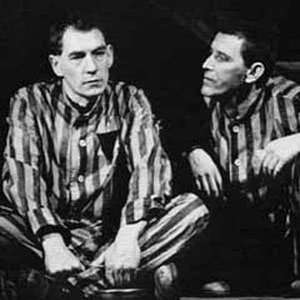 Ian McKellen (Max) and Tom Bell (Horst) meeting in Dachau