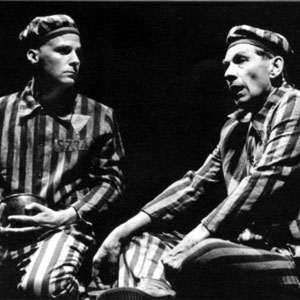 Founder members of Stonewall, Micahel Cashman and Ian McKellen, in the Adelphi performance of Bent.