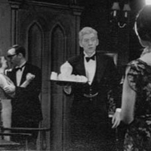 1961, BLACK COFFEE:  L to R: Bridget Turner, John Scarborough, Ian McKellen, Kristine Howarth.<BR><BR><em>I played the ancient butler (Tredwell) with hesitant gait and powdered hair.</em>