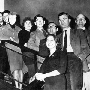 1961, Midnight Matinee: <em>My new friends who introduced me to the friendship of the professional theatre.</em><BR> The Belgrade Theatre Company, L to R: Derek Newark, Brian Bell (Producer), Bernard Kilby, Robert Gillespie, Sheila Keith, Bridget Turner, Ian McKellen, John Scarborough, Kristine Howarth, Peter French, Ronald Magill