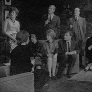 1961, CELEBRATION: L to R: Bridget Turner, Miranda Marshall, Hazel Coppen, Derek Newark, Jennie Lynne, Peter French, Ronald Magill, Gillian Martell, Robert Gillespie, Ian McKellen.<br><br><em>Another chance for the regular company to show its versatility &#151; my own contribution was as a Teddy-Boy in tight jeans and leather jacket restoring my native Lancashire accent which Cambridge University had tempered with received pronunciation. </em>