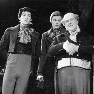 1961, MR. PICKWICK: L to R: Snodgrass (Ian McKellen), Winkle (Peter French), Pickwick (Patrick Newell), Jingle (Bernard Kilby), Tupman (Alan Haywood)