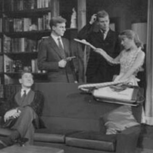1962, THE GAZEBO: L to R: Gawn Grainger, Ian McKellen, Roderick Horn, Ian de Voy, Josie Kidd  - Photo by Commercial Studios