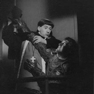 1963, LUTHER: Ian McKellen (Luther) and Gawn Grainger (The Knight)