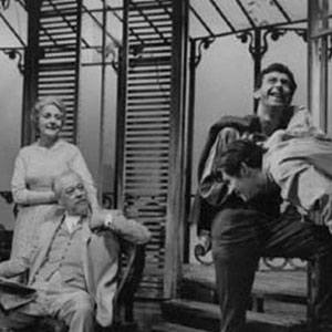 1963, LONG DAY'S JOURNEY INTO NIGHT: L to R: Betty Bowden, Clive Morton, Stephen MacDonald, Ian McKellen <BR><BR><em>As in most productions, our Mary Tyrone acted  her husband and sons off the stage - much the best part.</em>