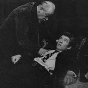 1963, LONG DAY'S JOURNEY INTO NIGHT: Clive Morton (James Tyrone) and Ian McKellen (Edmund Tyrone.)  <BR><BR><I>I was very excited to work with Clive,  trailing glory from films and the West End. By this time, simply on the basis of how well we all worked together, we believed that ours was a golden time in Ipswich.</I>
