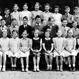 Methodist Primary School, Wigan. Ian McKellen 2nd from right in middle row.