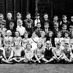 Methodist Primary School, Wigan. Ian McKellen 5th from left in back row.