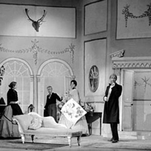 1959, A MONTH IN THE COUNTRY: Beliaev (Ian McKellen) 2nd from left  - Photo by Edward Leigh