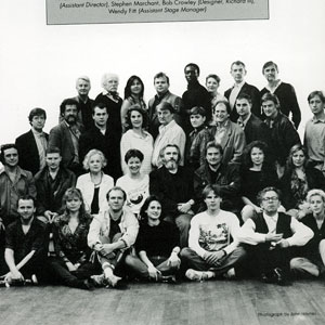 The Cast and Crew of KING LEAR and RICHARD III:<b> Back Row: Richard Simpson, Sam Beazley, Jane Suffling, Nicholas Blane, Hakeem Kae-Kazim, Finoa Bardsley, Ian McKellen, John Caulfield<br> Third Row: David Collings, Bruce Purchase, Peter Sulligan, Susan Engel, Peter Jeffrey, Deborah Warner, David Bradley, Mark Strong, Richard Bremmer, David Milling<br> Second Row: Richard OCallaghan, Phil McKee, Joyce Redman, Clare Higgins, Brian Cox, Richard Eyre, Eve Matheson, Hildegard Bechtler<br> Front Row: Colin Hurley, Helen Kvale, Derek Cunningham, Cordelia Monsey, Stephen Marchant, Bob Crowley, Wendy Fitt