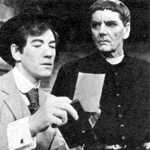 1972, 'TIS PITY SHE'S A WHORE: Giovanni (Ian McKellen) and Bonaventura (Robert Eddison)