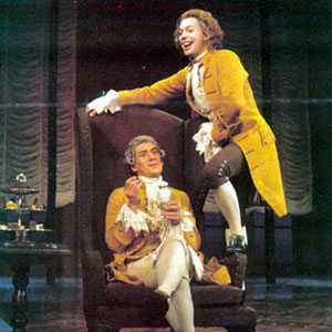 Salieri (Ian McKellen) and Mozart (Tim Curry)