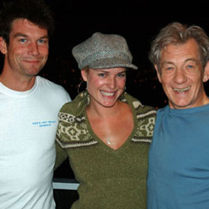 With Jerry OConnell and Rebecca Romijn, Vancouver, October 2005