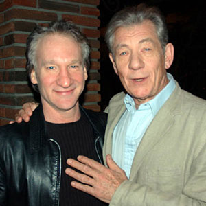 With Bill Maher, Hollywood, 28 Aprl 2006