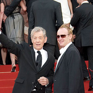 With Sean Mathias, Cannes 17 May 2006