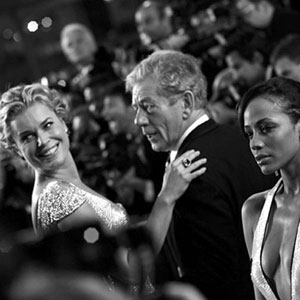 2006, X-MEN: THE LAST STAND: Rebecca Romijn and Ian McKellen, Cannes, May 2006  - Photo by Robert Leslie/Vanity Fair Italia