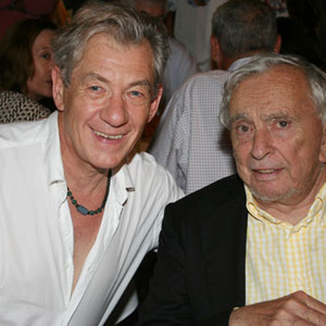 With Gore Vidal, post-show