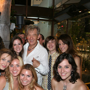 2006, A KNIGHT OUT IN LOS ANGELES (2006): With young actors, post-show  - Photo by Richard Swaidan