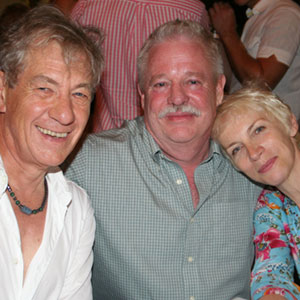 With Armistead Maupin and Annie Lennox, post-show