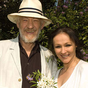2007,   With Frances Barber in their garden, Stratford-upon-Avon, April 2007  - Photo by Keith Stern