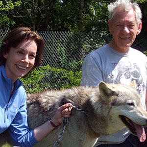 With Michelle Paver (Chronicles of Ancient Darkness) at the UK Wolf Conservation Trust