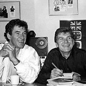 Ian McKellen at a book-signing for Walter with its author David Cook.