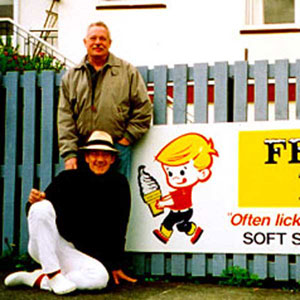 2000,   Armistead Maupin and Ian McKellen, Akaroa, New Zealand, May 2000  - Photo by Keith Stern