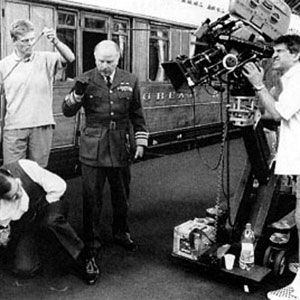 1995, RICHARD III: Setting up a shot in the train station  - Photo by Alex Bailey