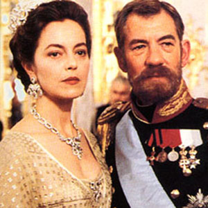 1996, RASPUTIN: Ian McKellen as Tsar Nicholas II and Greta Scacchi as his wife Tsarina Alexandra