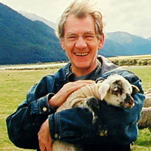 Ian McKellen, New Zealand, October 2000, Photo by Sean Mathias
