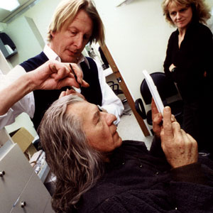 Peter Owen makes up Ian McKelllen as Gandalf the Grey