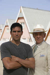 2009, THE PRISONER: As 2, With Jim Caviezel (6)  - Photo by Keith Bernstein