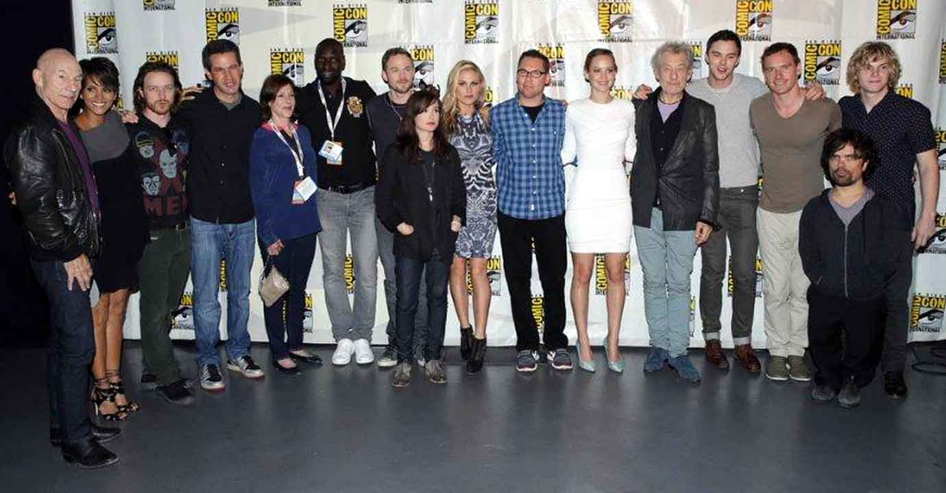 Cast of X-Men Days of Future Past at  Comic-con 2013