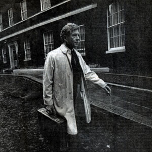 Actor and Activist: Sir Ian McKellen leaving 10 Downing Street after a meeting with Prime Minister John Major, 24 September 1991